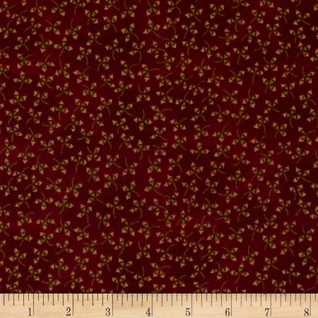 Winter Blessings Triangle Flower Red Fabric