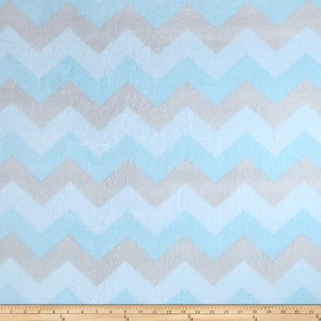 Winterfleece Chevron Blue Fabric By The Yard