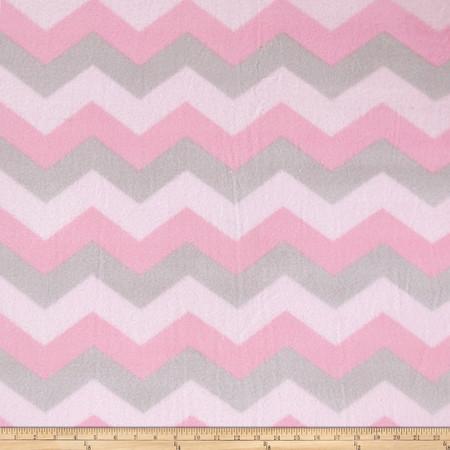 Winterfleece Chevron Pink Fabric By The Yard