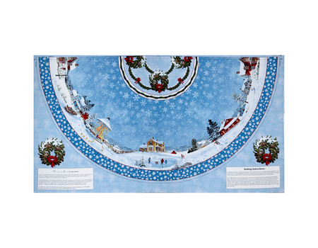 Winter's Eve Tree Skirt 24 In. Panel Multi Fabric By The Yard