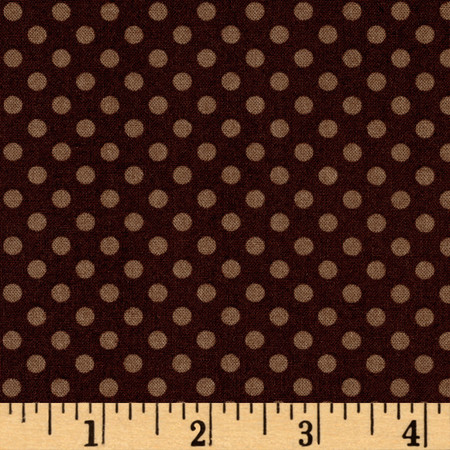 Woodland Gypsy Dots Brown Fabric By The Yard