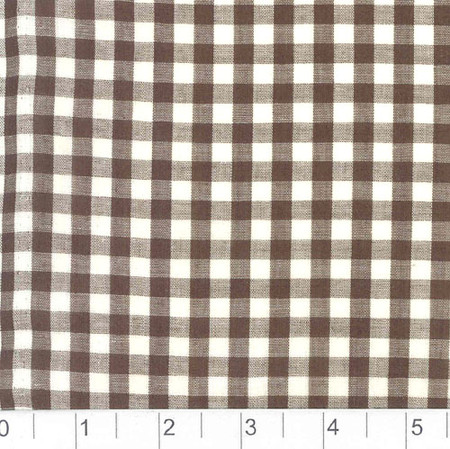 Woven 1/4 Gingham Chocolate Brown Fabric