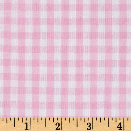 Woven 1/4'' Gingham Pink Fabric