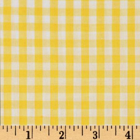 Woven 1/4'' Gingham Yellow Fabric