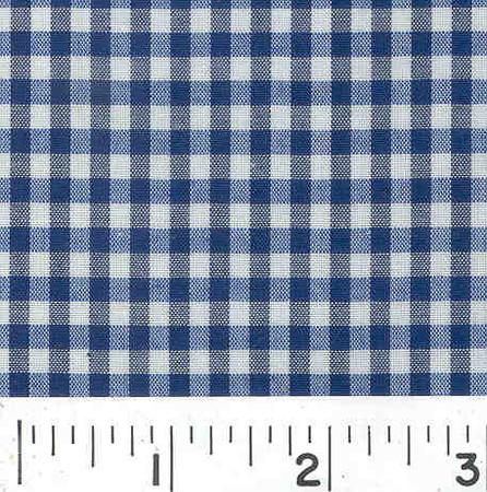 Wide Width 1/8 Gingham Check Navy Fabric By The Yard