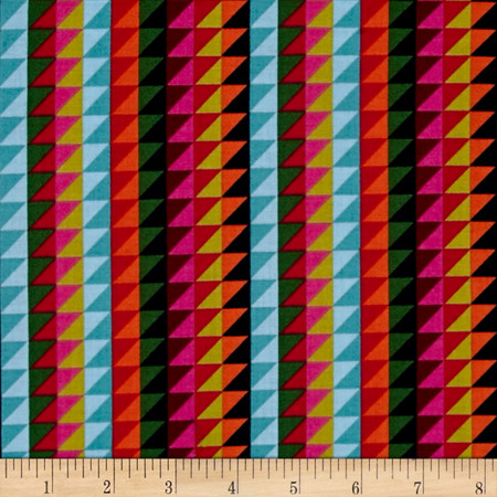 Wrap It Up Triangle Stripe Multi Fabric By The Yard