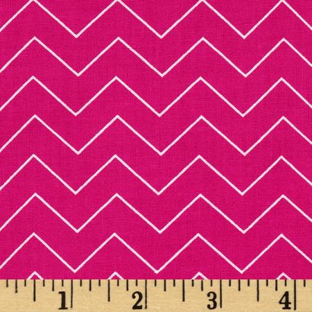 Zig Zag Chevron Raspberry Fabric