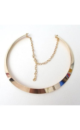 Celebrity Style Mirror Choker Necklace
