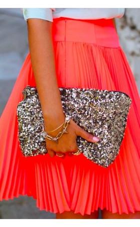 Gold Sequin Clutch Bag
