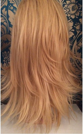 Hollywood Golden Blonde Double Volume 3/4 Reversible Hair Piece