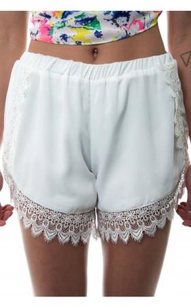 Limited Edition White Lace Eyelash Shorts
