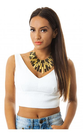 Turn It Up Bralet Top In White