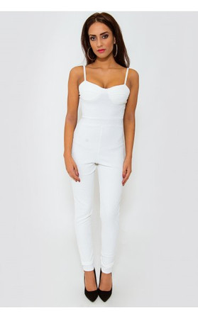 White Bralet Style Jumpsuit