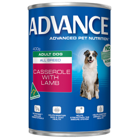 ADVANCE Dog Adult All Breed Casserole with Lamb - 400gm