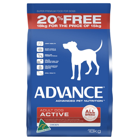 Advance Active All Breed Chicken 18kg Bonus Bag