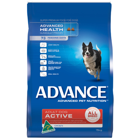 Advance Active All Breed Chicken Dry Dog Food  15kg