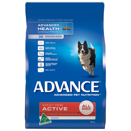 Advance Active All Breed Chicken Dry Dog Food  8kg