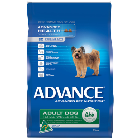 Advance Adult All Breed Chicken Dry Dog Food  15kg