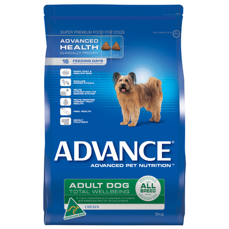 Advance Adult All Breed Chicken Dry Dog Food  3kg