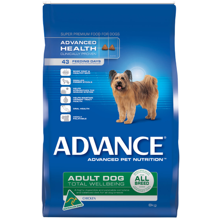 Advance Adult All Breed Chicken Dry Dog Food  8kg