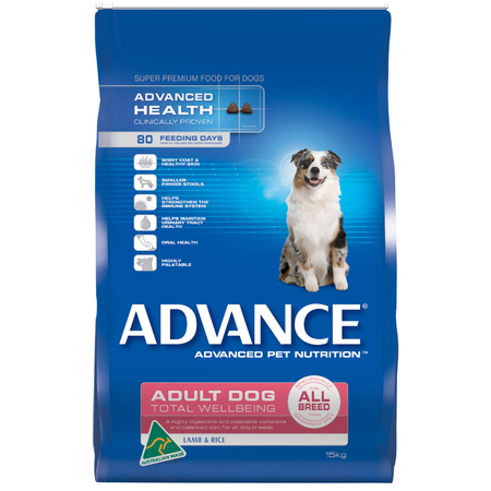 Advance Adult All Breed Lamb and Rice Dry Dog Food  15kg