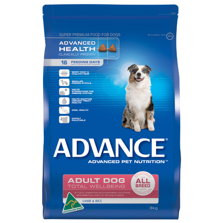 Advance Adult All Breed Lamb and Rice Dry Dog Food  3kg