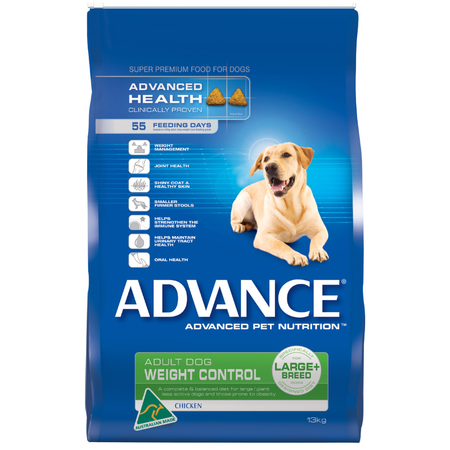 Advance Adult Large Breed Weight Control Chicken Dry Dog Food  13kg