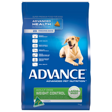 Advance Adult Large Breed Weight Control Chicken Dry Dog Food  7kg
