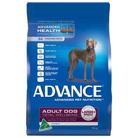 Advance Adult Large and Giant Breed Chicken Dry Dog Food  15kg