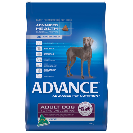 Advance Adult Large and Giant Breed Chicken Dry Dog Food  8kg
