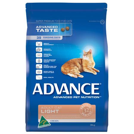 Advance Adult Light Chicken Dry Cat Food  3kg