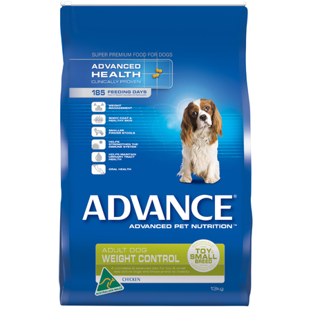 Advance Adult Small Breed Weight Control Chicken Dry Dog Food  13kg