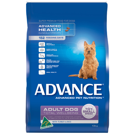 Advance Adult Toy and Small Breed Turkey and Rice Dry Dog Food  13kg