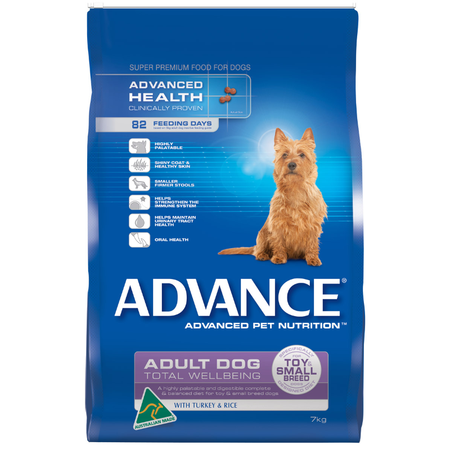 Advance Adult Toy and Small Breed Turkey and Rice Dry Dog Food  7kg