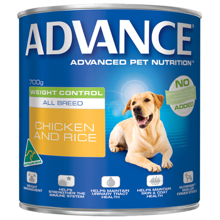 Advance All Breed Weight Control Chicken and Rice Canned Dog Food  700gm