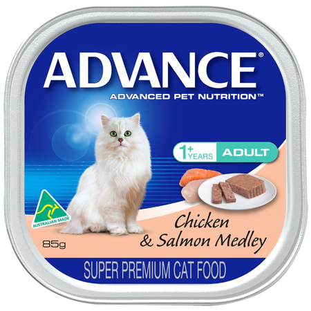 Advance Cat Adult Chicken and Salmon Medley - 85g