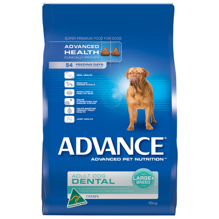 Advance Dental Large and Giant Breed Chicken Dry Dog Food  15kg