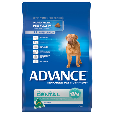 Advance Dental Large and Giant Breed Chicken Dry Dog Food  8kg