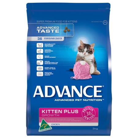Advance Kitten Plus Chicken Dry Kitten Food  3kg