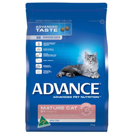 Advance Mature Fish Dry Cat Food  3kg