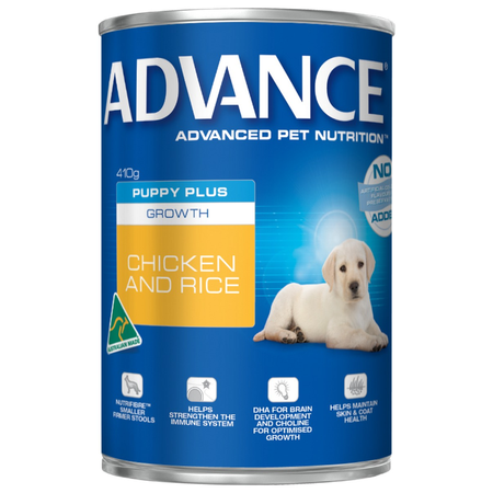 Advance Puppy Chicken and Rice Canned Puppy Food  410gm