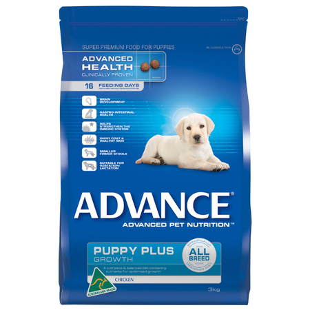 Advance Puppy Plus All Breed Chicken Dry Puppy Food  3kg