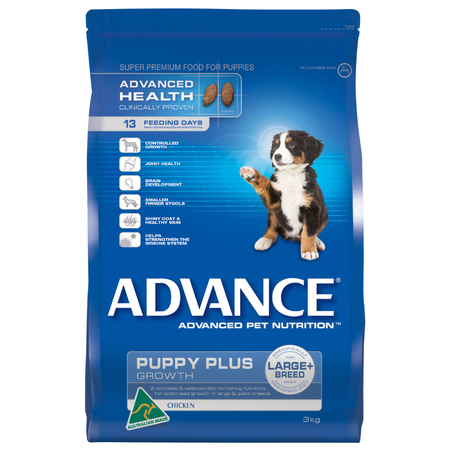 Advance Puppy Plus Large Breed Chicken Dry Puppy Food  3kg