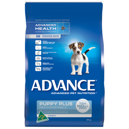Advance Puppy Plus Toy and Small Breed Chicken Dry Puppy Food  8kg