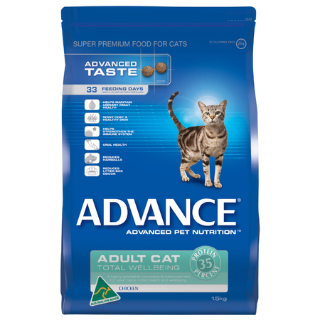 Advance Total Wellbeing Adult Chicken Dry Cat Food  1.5kg
