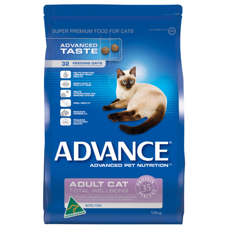 Advance Total Wellbeing Adult Fish Dry Cat Food  1.5kg
