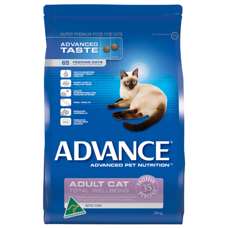 Advance Total Wellbeing Adult Fish Dry Cat Food  3kg