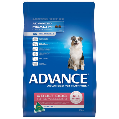 Advance Total Wellbeing All Breed Lamb & Rice - 18kg Bonus Bag