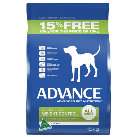 Advance - Adult All Breed - Weight Control - Chicken - Dry Dog Food