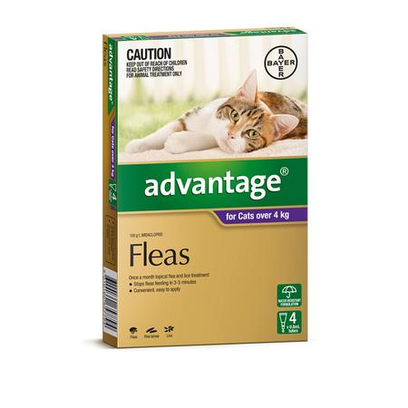 Advantage Flea Treatment for Cats 4kg+  4pk